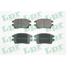 05P1332 LPR Höhe: 59,5mm, Breite: 114,5mm, Dicke/Stärke: 17mm Bremsbelagsatz, Scheibenbremse 05P1332 günstig kaufen