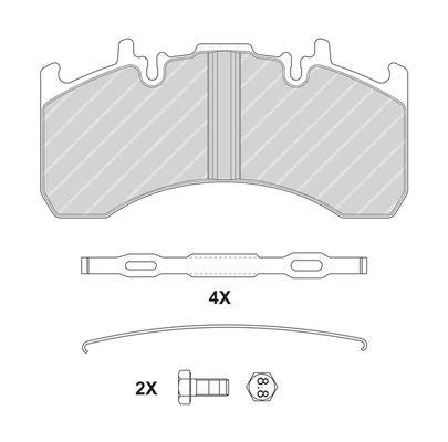Bremsbelagsatz, Scheibenbremse FERODO FCV4170B mit 20% Rabatt kaufen