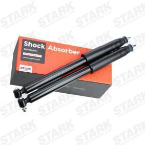 SKSA-0132644 STARK Achteras, Gasdruk, Dubbelpijp, Telescoop-schokdemper, Pen bovenaan, Oog onderaan Lengte: 570mm Schokdemper SKSA-0132644