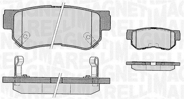 SSANGYONG RODIUS 2015 Bremsklötze - Original MAGNETI MARELLI 363916060278 Höhe 1: 41mm, Dicke/Stärke 1: 15mm
