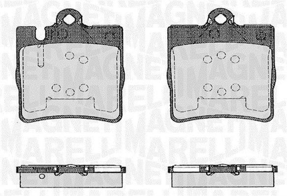 P50033MM MAGNETI MARELLI für Verschleißwarnanzeiger vorbereitet Höhe 1: 78,2mm, Dicke/Stärke 1: 15,8mm Bremsbelagsatz, Scheibenbremse 363916060553 günstig kaufen