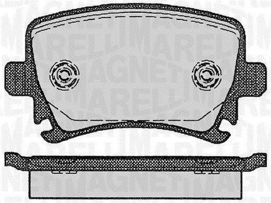 P85073MM MAGNETI MARELLI Höhe 1: 56mm, Dicke/Stärke 1: 17mm Bremsbelagsatz, Scheibenbremse 363916060133 günstig kaufen