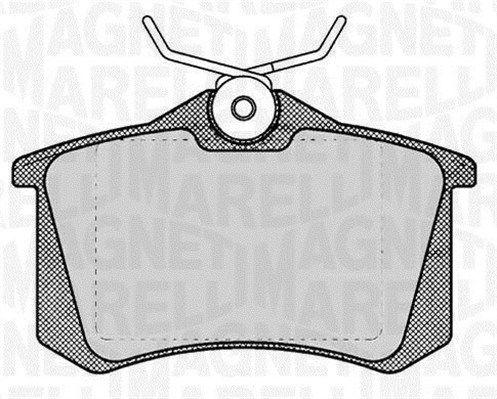 P85020MM MAGNETI MARELLI Höhe 1: 53mm, Dicke/Stärke 1: 17mm Bremsbelagsatz, Scheibenbremse 363916060131 günstig kaufen