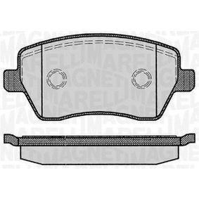 P68033MM MAGNETI MARELLI Höhe 1: 52,4mm, Dicke/Stärke 1: 17mm Bremsbelagsatz, Scheibenbremse 363916060347 günstig kaufen