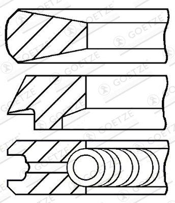GOETZE ENGINE Piston Ring Kit for ASTRA - item number: 08-428000-00