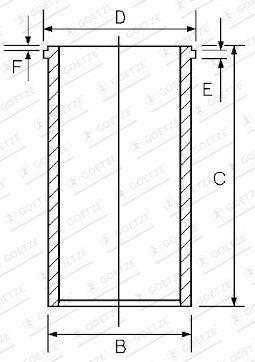 GOETZE ENGINE Cylinder Sleeve for FORD - item number: 14-045570-00