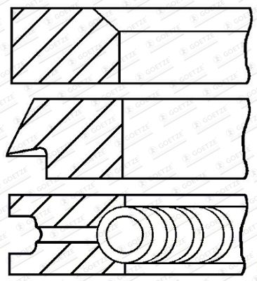 GOETZE ENGINE Stūmoklio žiedų komplektas Cil. anga: 94,00mm 08-700900-00 SUZUKI