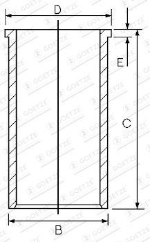 GOETZE ENGINE Cylinderhylsa till IVECO - artikelnummer: 14-023551-00