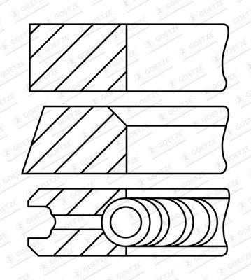 GOETZE ENGINE Piston Ring Kit for FORD - item number: 08-782900-00