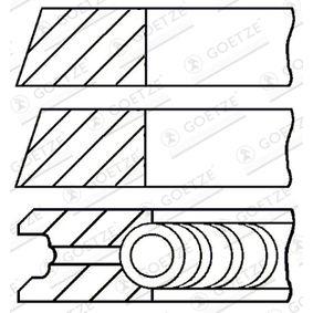 Moto GOETZE ENGINE Cyl.Bore: 75,97mm Piston Ring Kit 08-523700-00 cheap