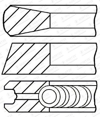 GOETZE ENGINE Piston Ring Kit for DENNIS - item number: 08-145007-00