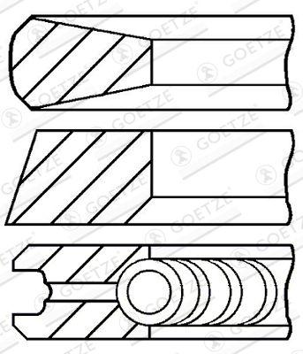 GOETZE ENGINE Piston Ring Kit for FODEN TRUCKS - item number: 08-145007-00
