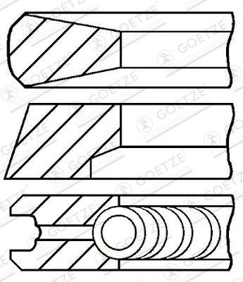 08-854700-00 GOETZE ENGINE Piston Ring Kit: buy inexpensively