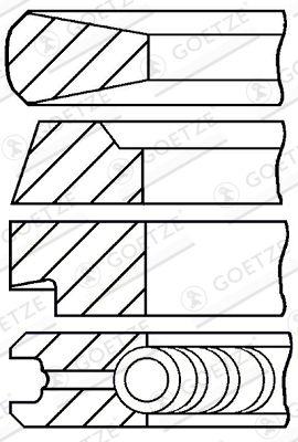 GOETZE ENGINE Piston Ring Kit for MAGIRUS-DEUTZ - item number: 08-174600-10