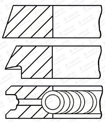 GOETZE ENGINE Stūmoklio žiedų komplektas Cil. anga: 94,00mm 08-701000-00 SUZUKI