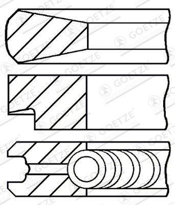 GOETZE ENGINE Kolbenringsatz für IVECO - Artikelnummer: 08-103900-00
