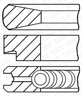 GOETZE ENGINE Piston Ring Kit for IVECO - item number: 08-103900-00