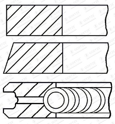 Originali Fasce elastiche motore 08-435700-00 Opel