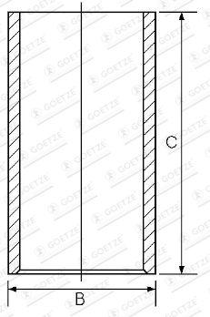 GOETZE ENGINE Cylinder Sleeve for MITSUBISHI - item number: 14-010970-00