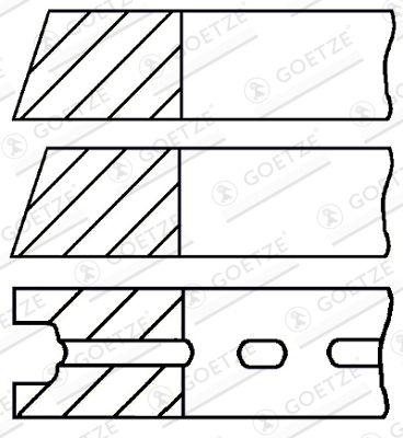 GOETZE ENGINE Kolvringsats Cyl-Ø: 72,51mm 08-525414-00 SUZUKI
