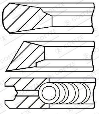 08-155600-10 GOETZE ENGINE Piston Ring Kit: buy inexpensively