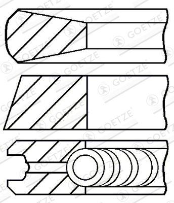 GOETZE ENGINE Piston Ring Kit for GINAF - item number: 08-140200-00