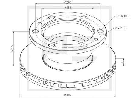 PETERS ENNEPETAL Brake Disc for IVECO - item number: 026.651-10A