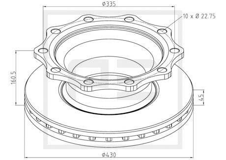 PETERS ENNEPETAL Bremsscheibe für DENNIS - Artikelnummer: 066.251-00A
