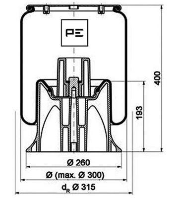 Federbalg, Luftfederung PETERS ENNEPETAL 084.146-72A