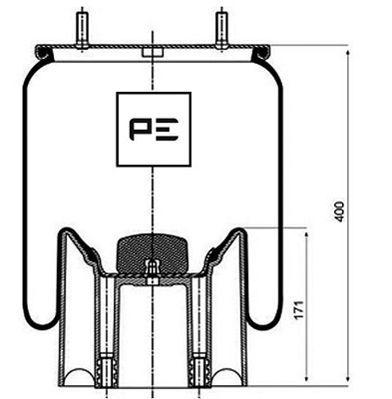 Federbalg, Luftfederung PETERS ENNEPETAL 084.105-72A