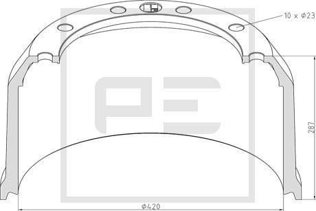 PETERS ENNEPETAL Bremstrommel für SCANIA - Artikelnummer: 046.616-10A