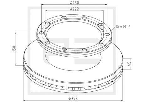 PETERS ENNEPETAL Bremsscheibe für DENNIS - Artikelnummer: 266.002-00A