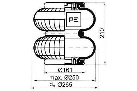 Federbalg, Luftfederung PETERS ENNEPETAL 084.127-71A