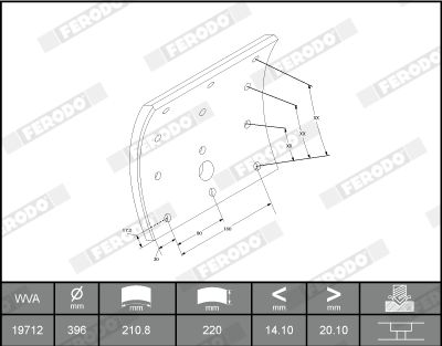 K19743.0-F3539 FERODO Bremsbelagsatz, Trommelbremse billiger online kaufen