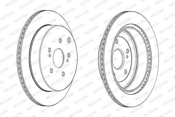 SUZUKI GRAND VITARA 2021 Bremsscheibe - Original FERODO DDF2072C Ø: 308mm, Lochanzahl: 5, Bremsscheibendicke: 16mm