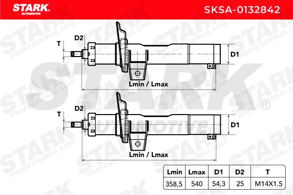 SKSA-0132842 Stoßdämpfer Satz STARK - Markenprodukte billig