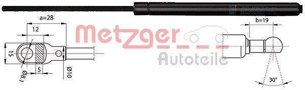 2110342 METZGER Gasfeder, Heckscheibe 2110342 günstig kaufen
