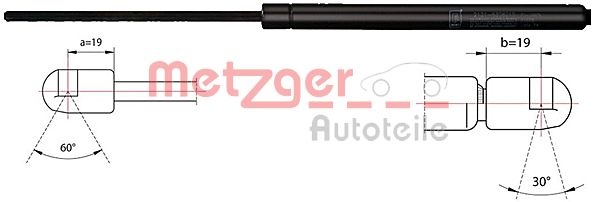 Original MERCEDES-BENZ Boot gas struts 2110434