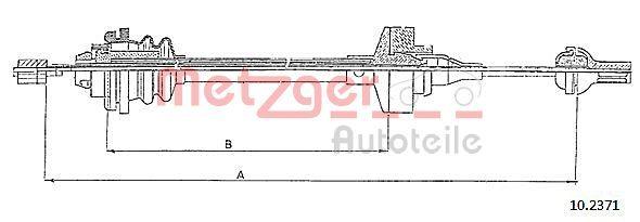 Original RENAULT Kupplungszug 10.2371