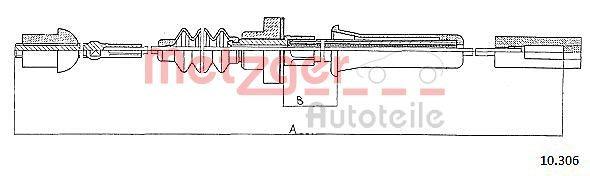 AUDI A6 2000 Kupplungsseil - Original METZGER 10.306