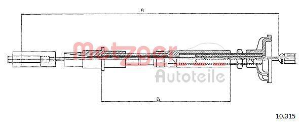 METZGER Seilzug, Kupplungsbetätigung 10.315