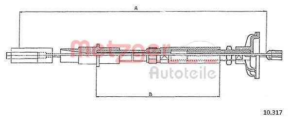 Original BMW Kupplungsseilzug 10.317