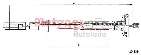 OE Original Kupplungsseilzug 10.339 METZGER