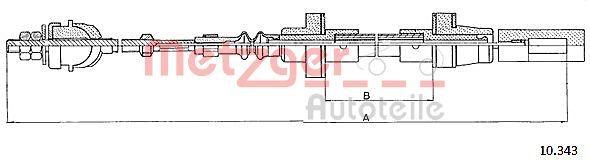 METZGER Seilzug, Kupplungsbetätigung 10.343