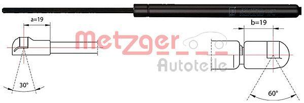 Original IVECO Tailgate struts 2110449