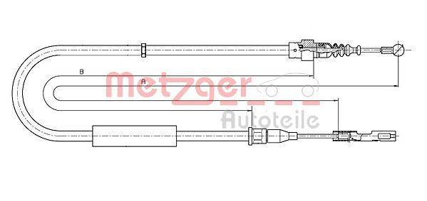 OE Original Handbremsseil 10.7512 METZGER