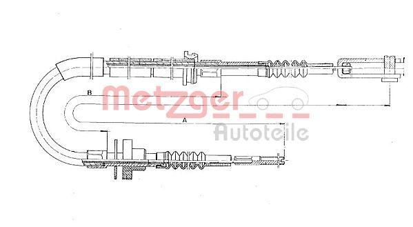 MERCEDES-BENZ E-Klasse 2000 Kupplungszug - Original METZGER 11.3910