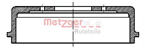 OE Original Trommelbremsen set BT 1050 METZGER