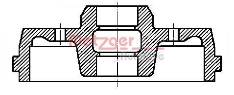 OE Original Bremsbelagsatz Trommelbremse BT 7110 METZGER