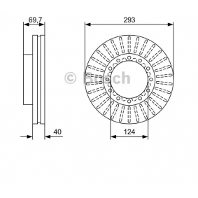 Buy BOSCH Brake Disc 0 986 479 D14 for MITSUBISHI at a moderate price